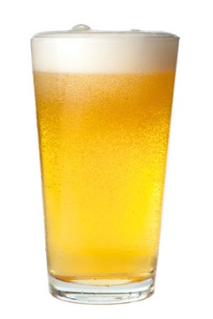 Pint of Beer on White